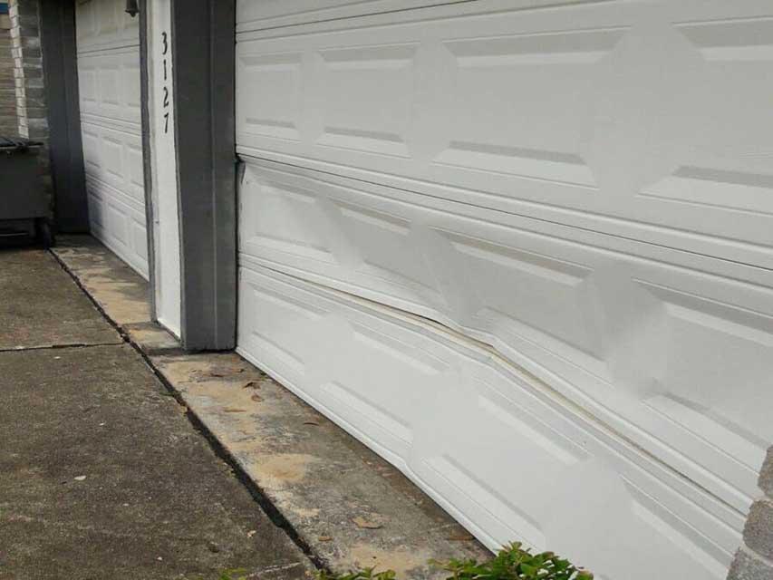 Bent Garage Door Panels